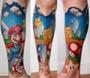 Tatouage Mario : il se fait tatouer le celebre plombier de Nintendo sur les mollets